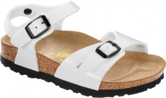 Birkenstock Sandale Fersenriemen Rio BF Lack weiß Gr. 35 - 41 231883