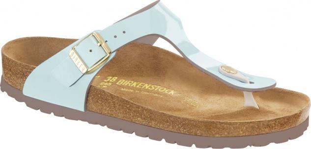 Birkenstock Gizeh Zehensteg Sandale two tone water cream BF Lack Gr. 35 - 43 - 1012237