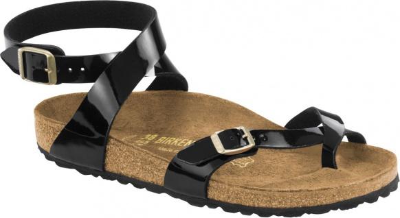 Birkenstock Zehensteg Sandale Yara BFLA Patent black Gr. 35 - 43 1005163 / 1005164