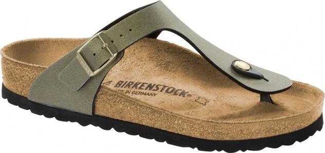 Birkenstock Zehensteg Sandale Gizeh metallic stone gold 1014286