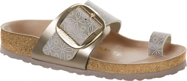 Birkenstock Zehensteg Sandale Miramar Big Buckle ceramic pattern blue 1009036