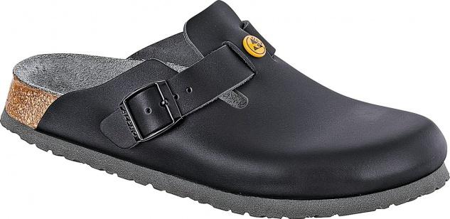 BIRKENSTOCK Professional Clog Boston ESD schwarz Leder Gr. 36-48 061360 + 061368