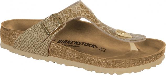 Birkenstock Zehensteg Sandale Gizeh BF magic snake gold Gr. 35 - 43 - 1011770
