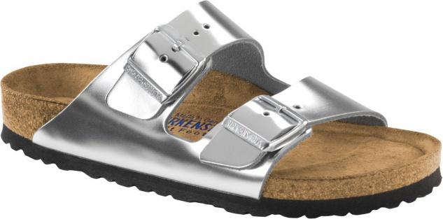 Birkenstock Pantolette Arizona NL WB Metallic silver Gr. 35 - 43 - 752713 - Vorschau