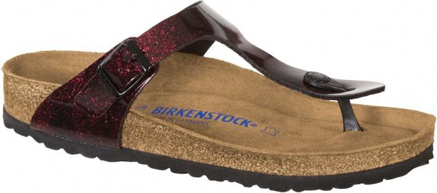 Birkenstock Zehensteg Sandale Gizeh BF SFB iride strong red Gr. 35 - 43 - 1011152