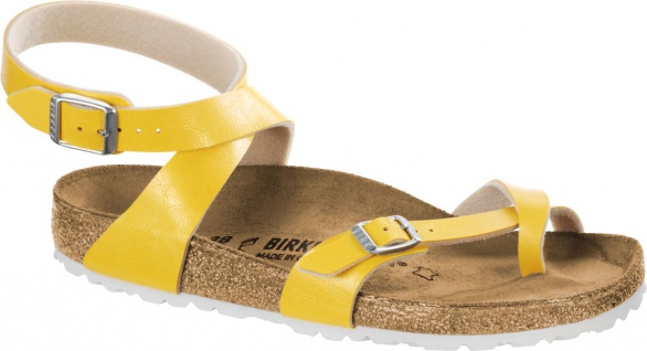 Birkenstock Zehensteg Sandale Yara graceful amber yellow 1008845