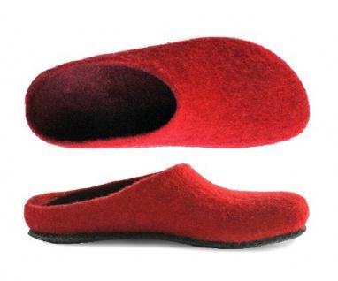 magicfelt Wollfilz-Pantoffel rubin Gr. 36 - 46 709 4823 - Vorschau 1