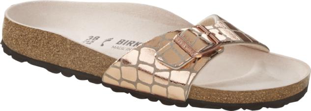 Birkenstock Madrid gator glam copper 1016057