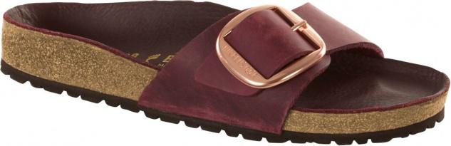 Birkenstock Pantolette Madrid Big Buckle zinfandel Nubuk 1011079 Gr. 35 - 43 1011079 Nubuk 0066e7