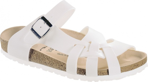 BIRKENSTOCK Pantolette Sandale Pisa weiß Birko-Flor Gr. 35 - 43 075733 + 075731