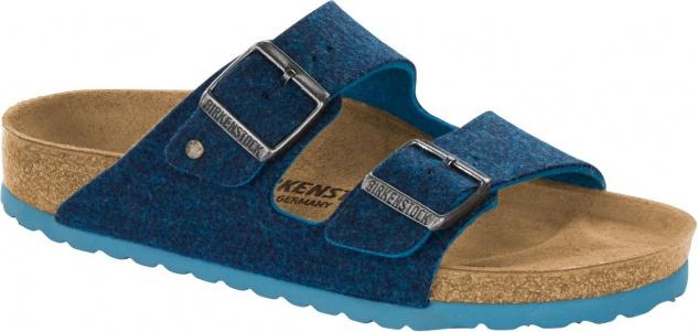 Birkenstock Pantolette Arizona doubleface blue Wolle Gr. 35 - 46 1013006