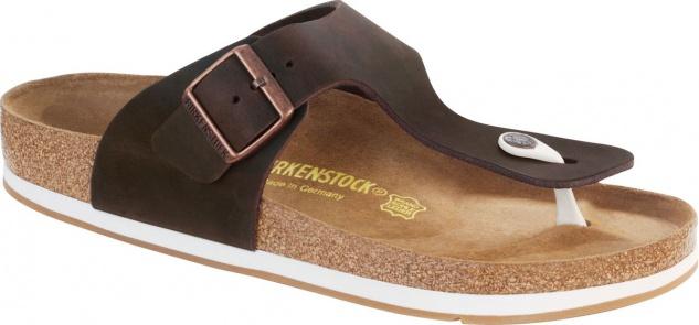 Birkenstock Zehensteg Sandale Ramses habana Fettleder (FL) Gr. 35 - 46 544211 Beliebte Schuhe