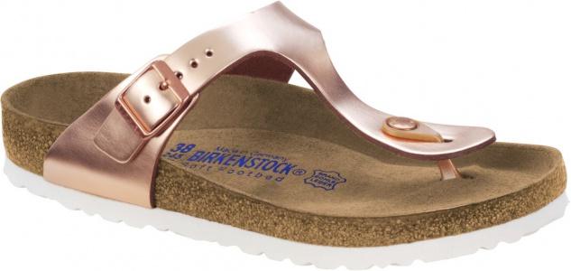Birkenstock Zehensteg Sandale Gizeh NL WB Metallic Copper Gr. 35 - 43 - 1005048/1005049