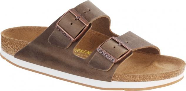Birkenstock Pantolette Arizona FL tabacco brown Fettleder 35 - 46 057723