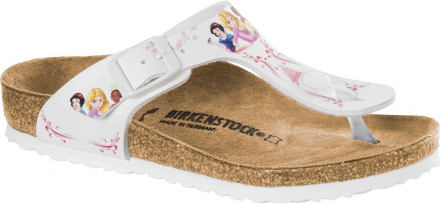 Birkenstock Gizeh Kids BS Zehensteg disney princess white 1008657