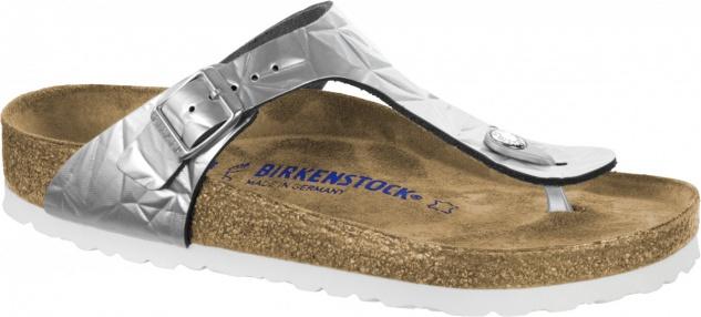 Birkenstock Zehensteg Sandale Gizeh spectral silver Gr. 35 - 43 - 1008463