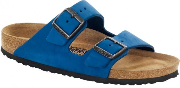 Birkenstock Pantolette Arizona 43 Nubukleder Blau Gr. 35 - 43 Arizona - 057801 1eea70
