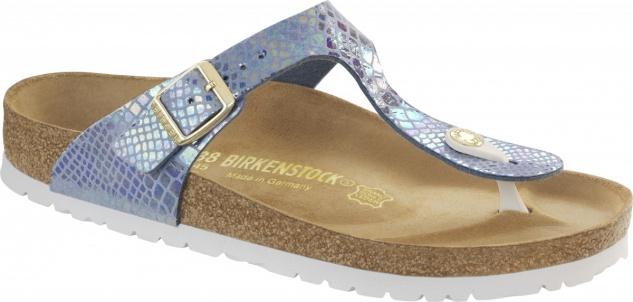 Birkenstock Gizeh Zehensteg Sandale shiny snake sky BF Gr. 35 - 43 - 1011602