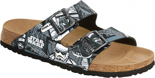 Birkenstock Pantolette Arizona BF Star Wars Comic Grey Gr. 35 - 42 513943
