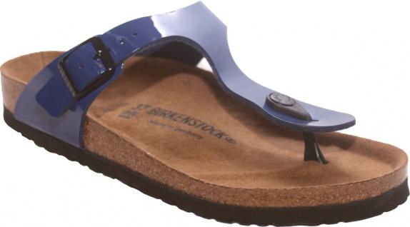 Birkenstock Gizeh Zehensteg Sandale twilight blue BF Lack Gr. 35 - 43 - 345421