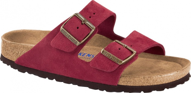 Birkenstock Pantolette Arizona antique port 1014877