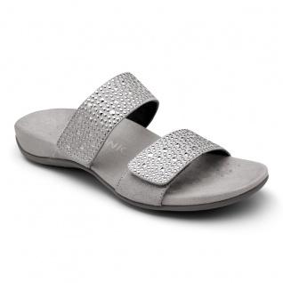 Vionic Pantolette Sandale Samoa pewter wide Gr. 35 - 42