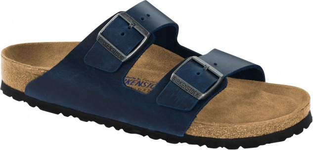Birkenstock Pantolette Arizona blue waxy leather Gr. 35 - 46 1013643