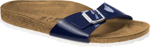 Birkenstock Pantolette Madrid dress Blau Lack 43 BF Gr. 35 - 43 Lack 1005312 37ec1e