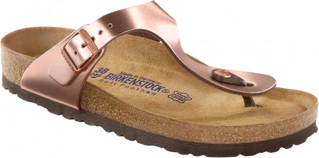 Birkenstock Zehensteg Sandale Gizeh NL SFB Metallic Copper Gr. 35 - 43 - 1004278