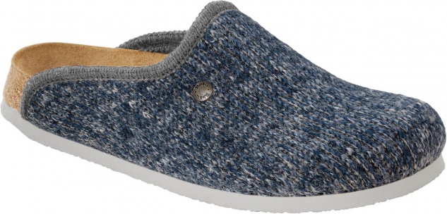 BIRKENSTOCK Clog Amsterdam wool knit blue 517143