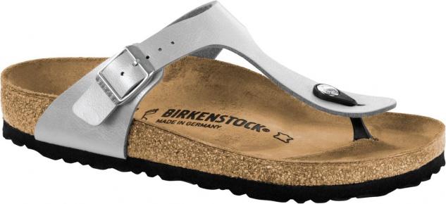 Birkenstock Zehensteg Sandale Gizeh BF graceful silver Gr. 35 - 43 - 1009604