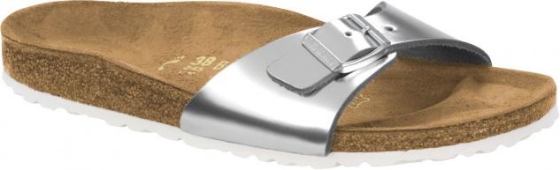 Birkenstock Madrid Leder metallic silver 1004051