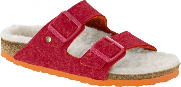 Birkenstock Pantolette Arizona doubleface fuchsia Wolle Gr. 35 - 46 1012433 / 1012434