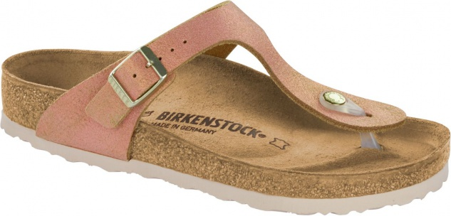 Birkenstock Zehensteg Sandale Gizeh washed metallic sea copper 1012909