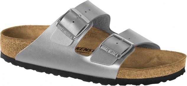 Birkenstock Pantolette Arizona BF silver Gr. 35 - 43 1012283