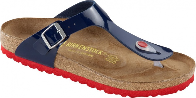 BIRKENSTOCK Zehensteg Sandale Gizeh dress blue Lack Gr. 35 - 43 845881 + 845883