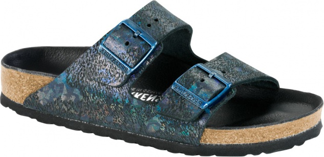 Birkenstock Pantolette Arizona NL spotted metallic black Gr. 35 - 43 1006742