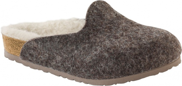 BIRKENSTOCK Clog Amsterdam cacao happy lamb beige Wolle Gr. 26 - 34 1002208k