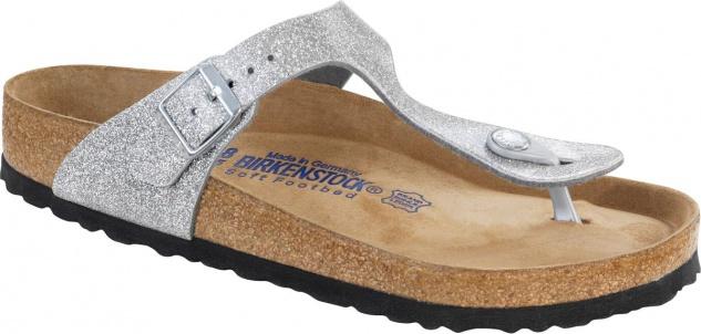 Birkenstock Zehensteg Sandale Gizeh BF WB Magic Galaxy Silver Gr. 35 - 43 - 847461 + 847463 - Vorschau