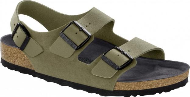 Birkenstock Sandale Milano Asphalt Khaki Naturleder Gr. 35 - 46 1011399