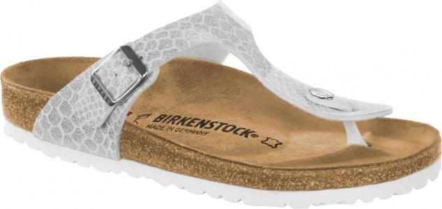 Birkenstock Gizeh Zehensteg Sandale magic snake white Gr. 35 - 43 - 1009115