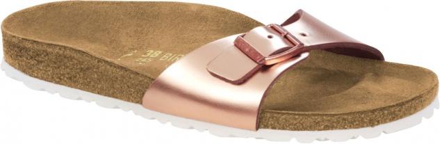 Birkenstock Pantolette Gr. Madrid metallic copper Naturleder Gr. Pantolette 35 - 43 1005051 + 1005050 aff812