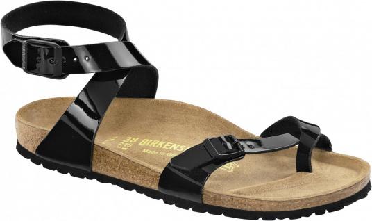 Birkenstock Zehensteg Sandale Yara BF schwarz Lack Gr. 35 - 43 013921 - Vorschau