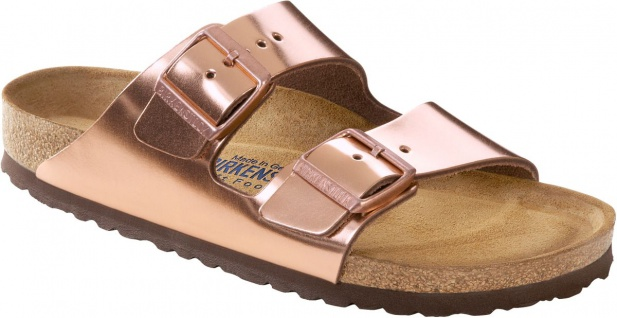 Birkenstock Pantolette Arizona NL WB Metallic Copper Gr. 35 - 43 - 752723