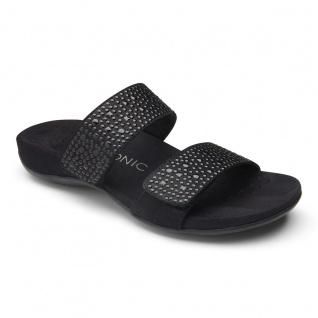 Vionic Pantolette Sandale Samoa black wide Gr. 35 - 42