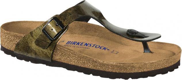 Birkenstock Zehensteg Sandale Gizeh BF iride strong gold Gr. 35 - 43 - 1011156