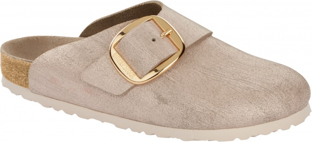 Birkenstock Clog Basel Big Buckle washed metallic rose gold 1012894