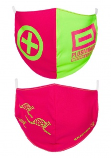CHIEMSEE Nasen - & Mundschutz- Maske 2er Pack für Damen in pink & grün (1 x 2 Stück)
