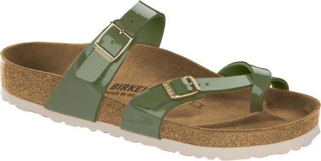 Birkenstock Mayari Zehensteg Sandale patent khaki Gr. 35 43 1013083