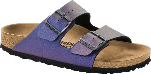 Birkenstock Pantolette Arizona icy metallic violet 1014283